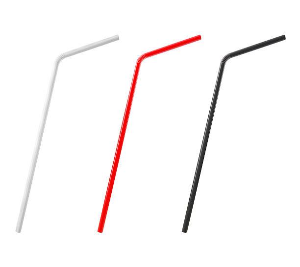 3 D bunte trinkt Straws, isoliert auf weißem Hintergrund – Foto
