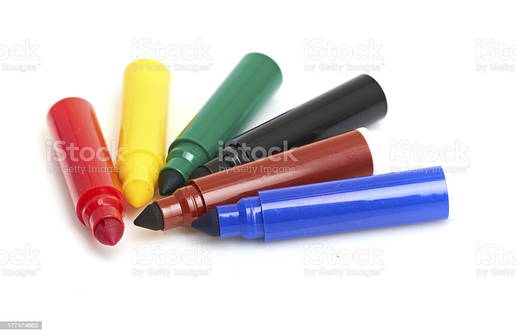 Multicolored Felt-Tip Pens royalty-free stock photo