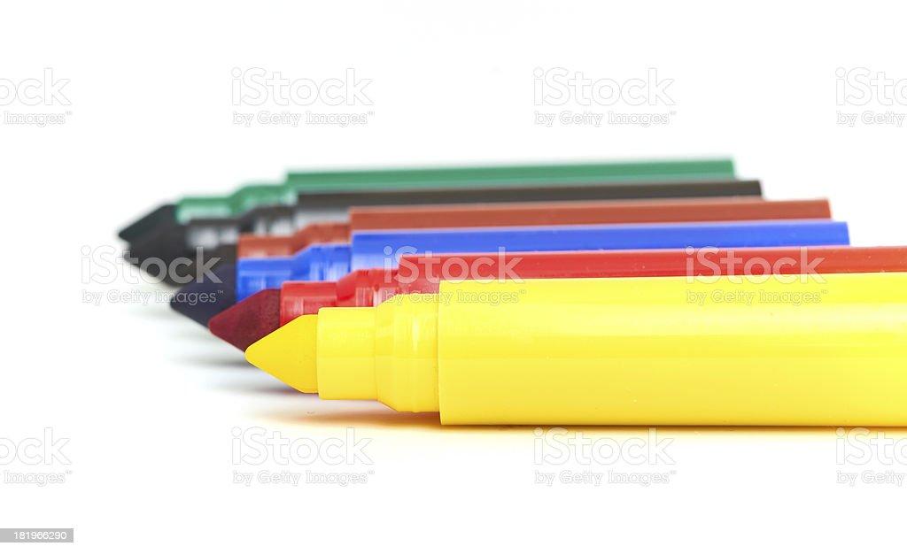 Multicolored Felt-Tip Pens royalty-free stock photo