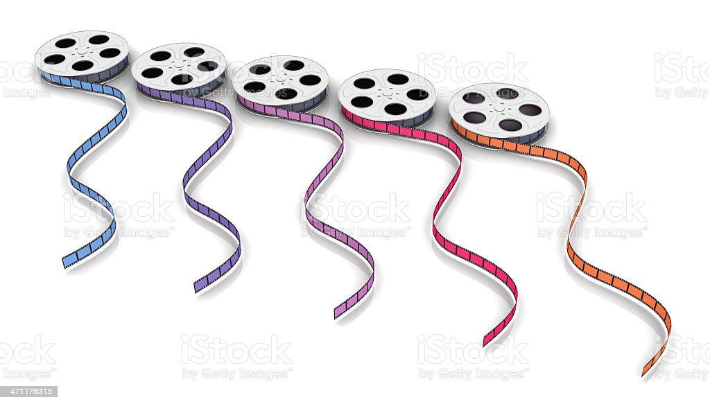 Mehrfarbiges film reels – Foto