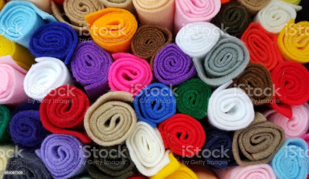 Multi-colored flannel stock photo