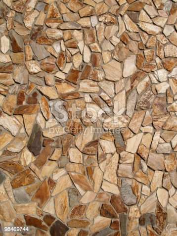 Multicolored Flat Stone Facade Stock Photo & More Pictures of Abstract