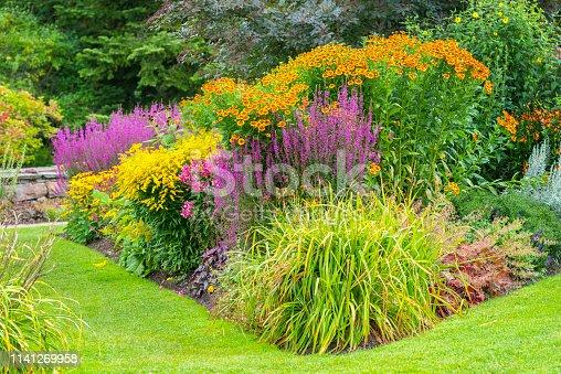 Flowerbeds in the Botanical Garden of Gothenburg in Sweden.
