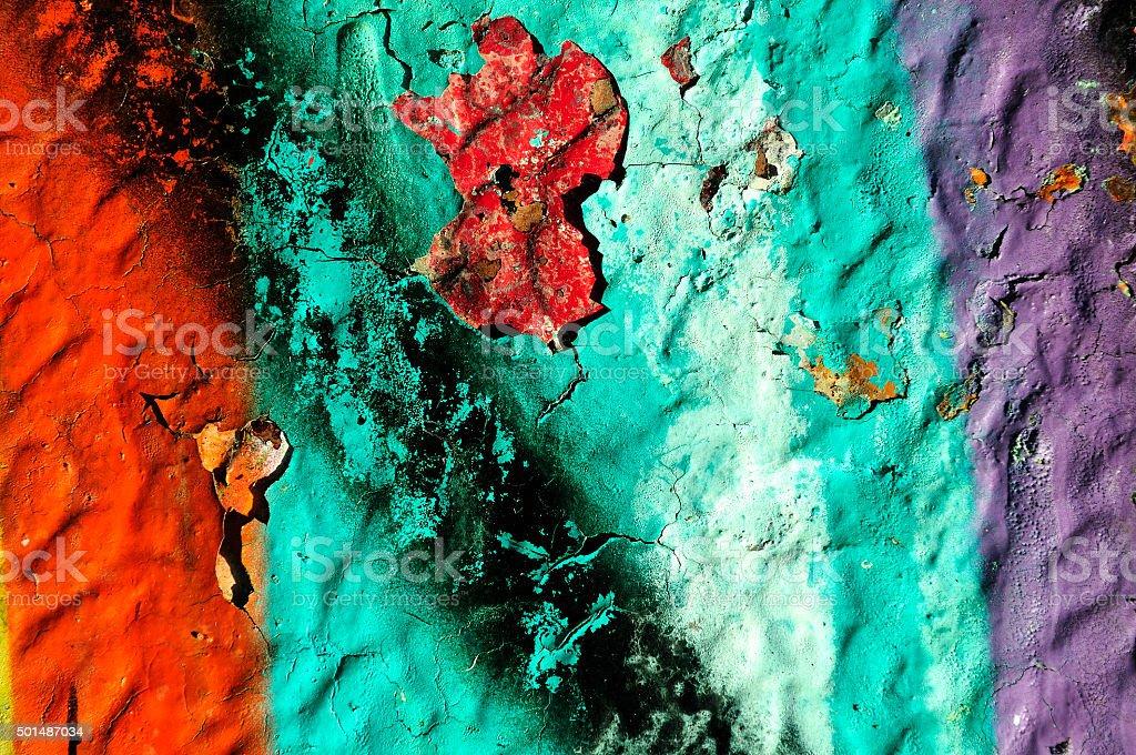 Multicolored grunge wall stock photo