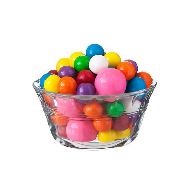 multicolored gumballs bubble gums - sakız şekerleme stok fotoğraflar ve resimler