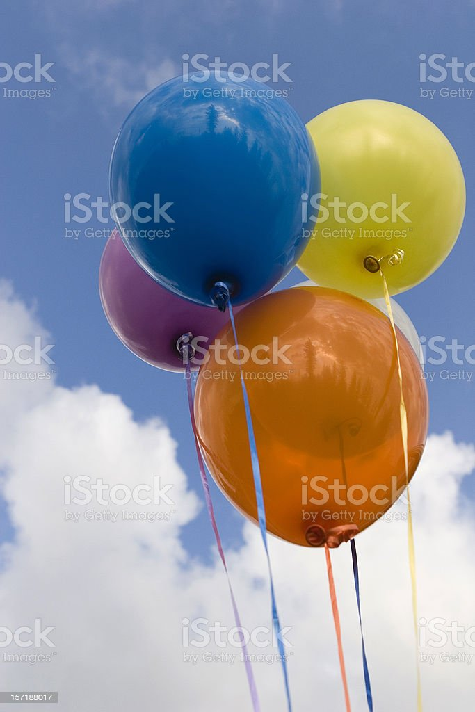 Multi-Colored Helium Balloons royalty-free stock photo
