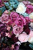istock Multicolored imitation flowers 1049873278