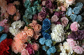 Multicolored imitation flowers backgrounds