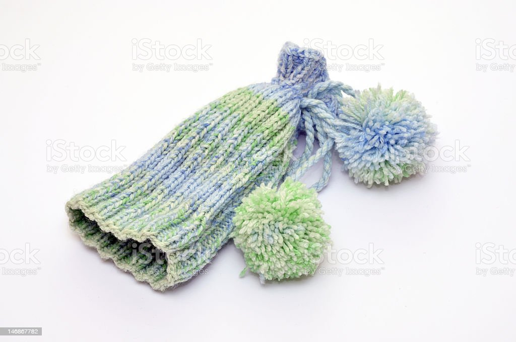 multicolored knit hat royalty-free stock photo