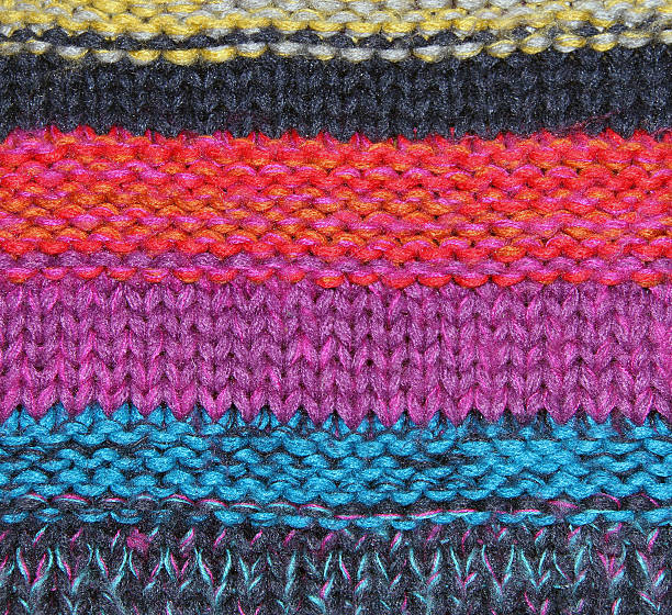 multicolored knitted pattern​​​ foto