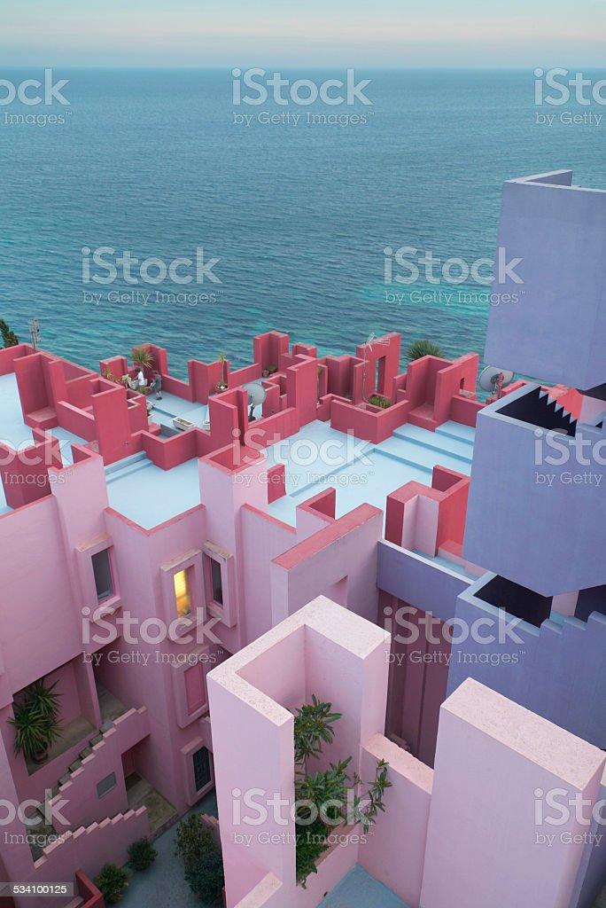 Bunten labyrinth apartment in Spanien und das Mittelmeer – Foto