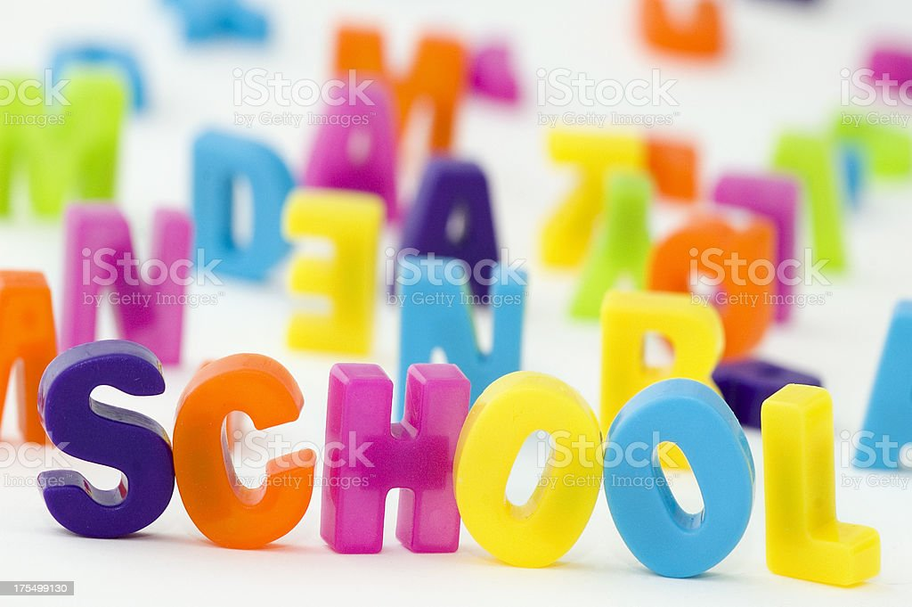 Multicolored Letters stock photo