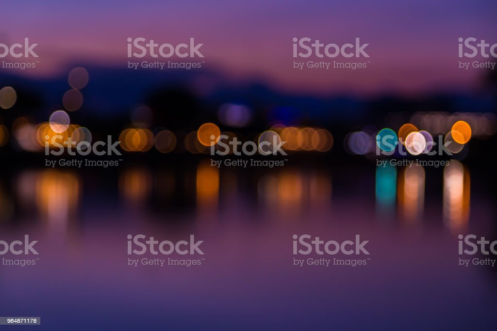Multicolored lights bokeh royalty-free stock photo