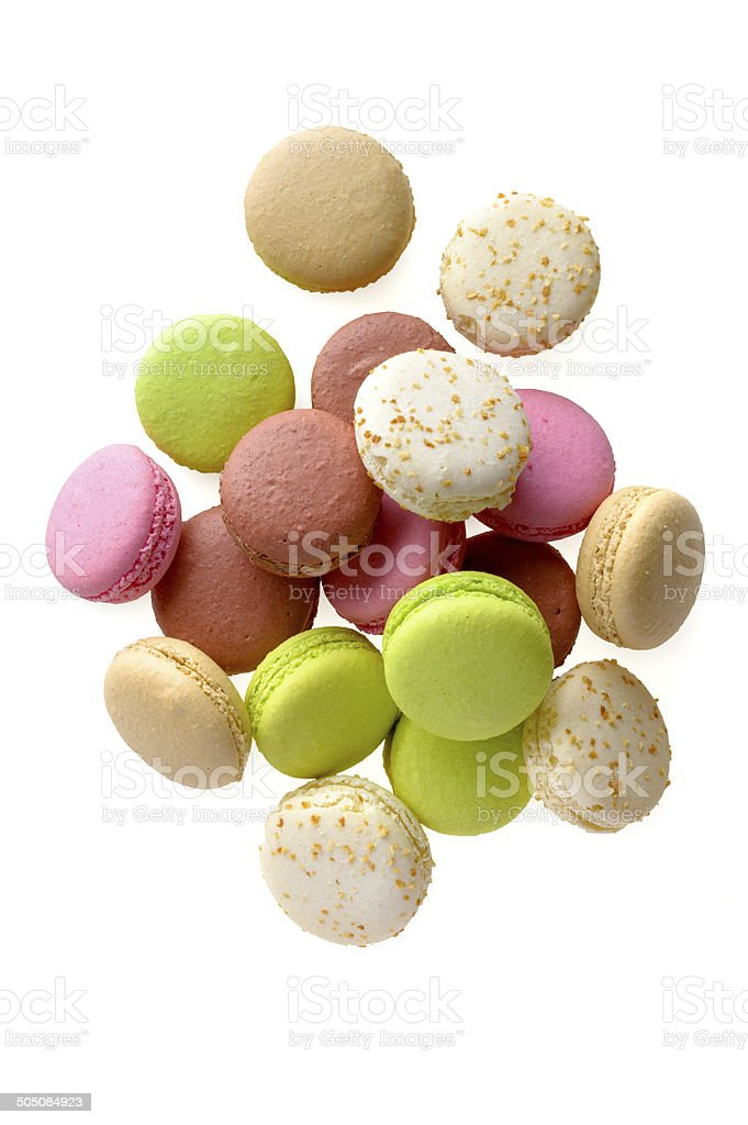 Multicolored macarons royalty-free stock photo
