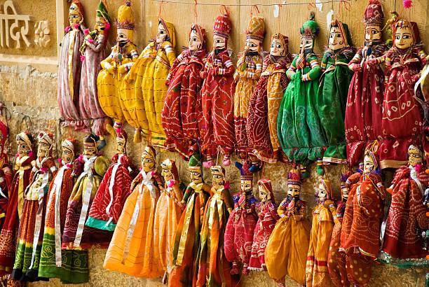 marionettes multicolore - foto stock