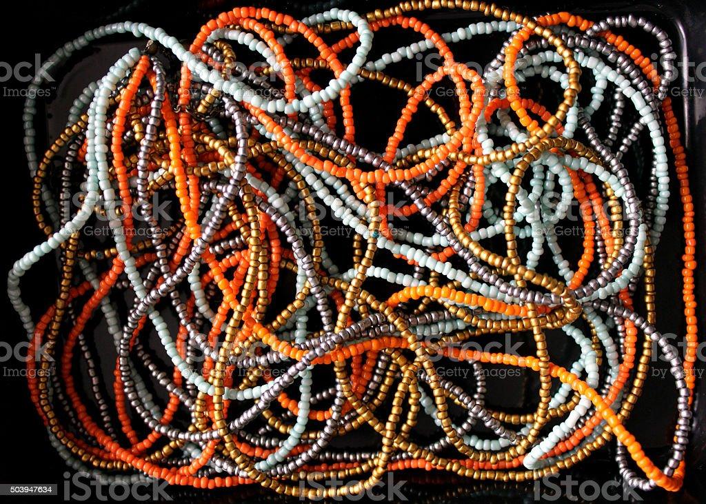 Multicolored Necklaces stock photo