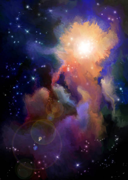 nébuleuse peint multicolore - Photo