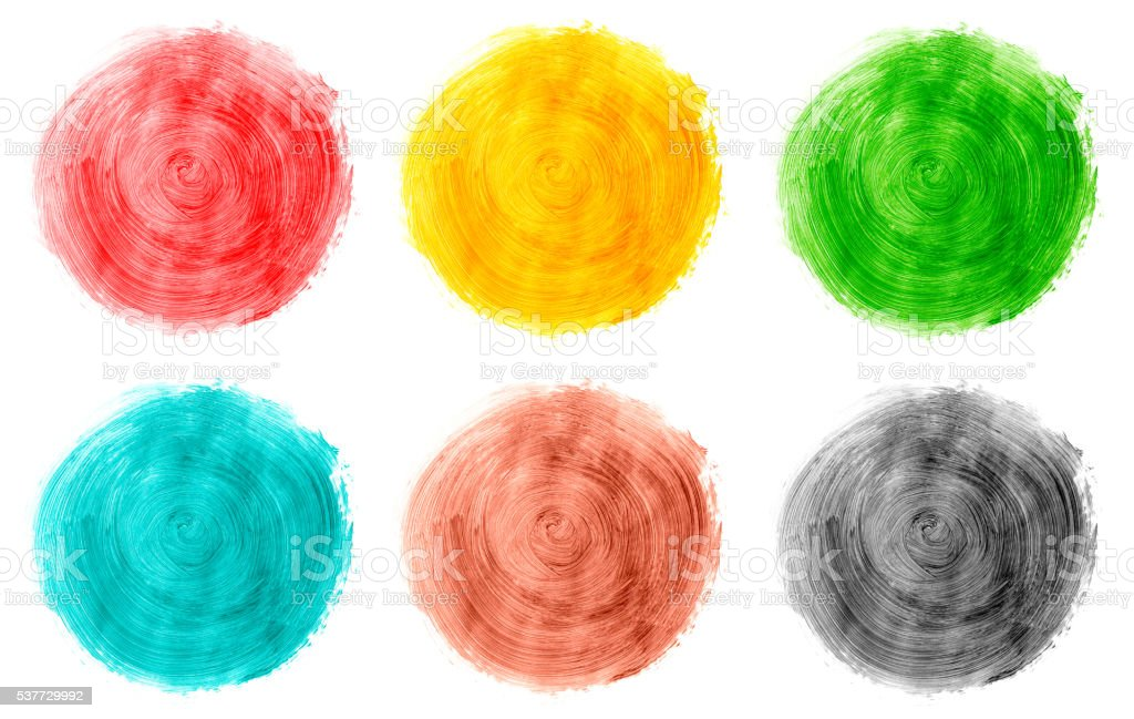 Multicolored paints on white (color swatch) stock photo