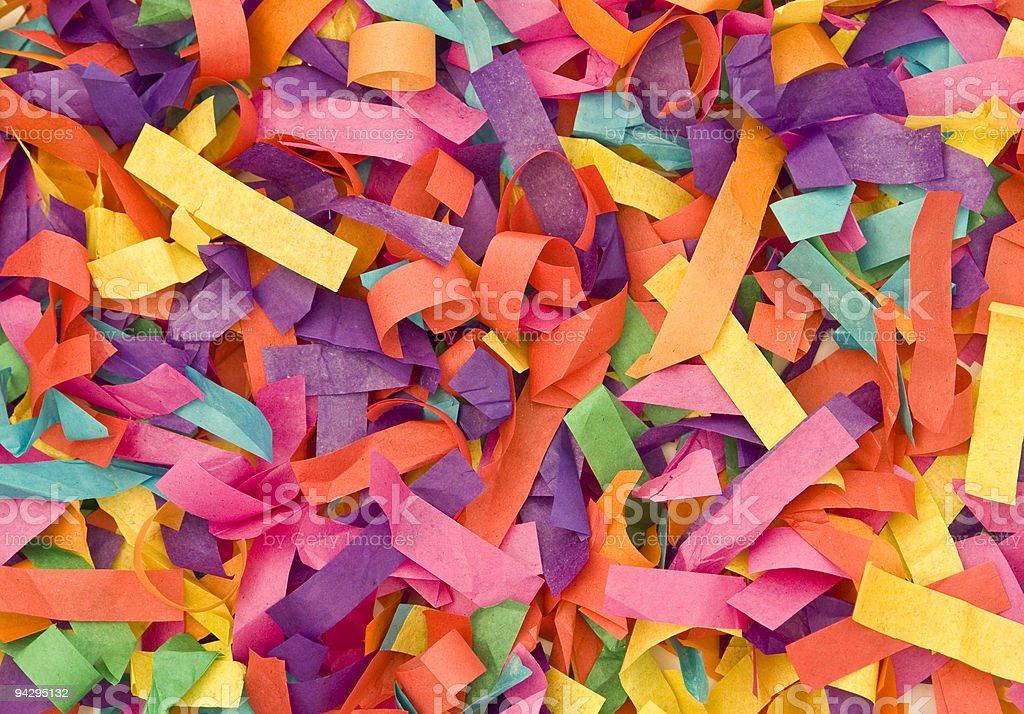 Multicolored paper stock photo