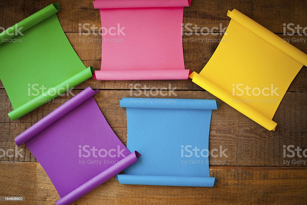 Multicolored paper stickers royalty-free stock photo