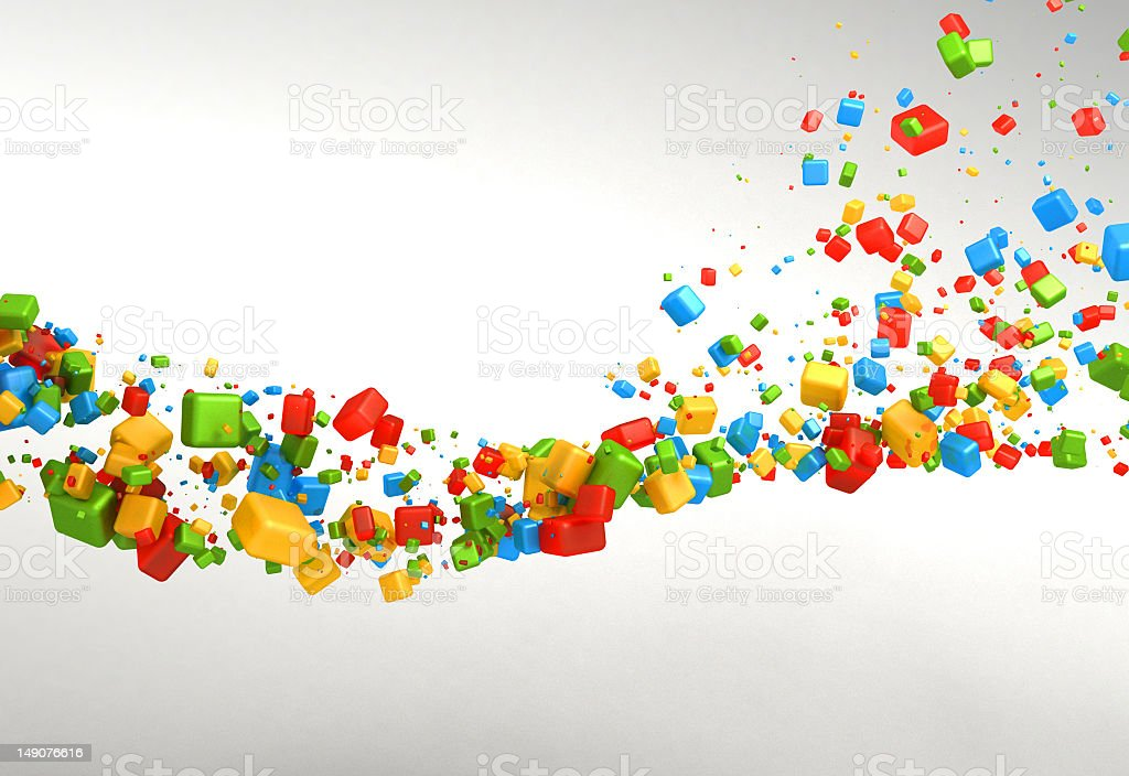 Multicolored particles background royalty-free stock photo