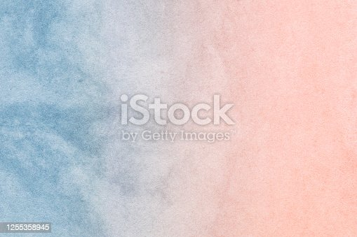 Multicolored pastel abstract background.Gentle tones paper texture. Light gradient. Diffused white, purple, pink, turquoise hues. The colour is soft and romantic.