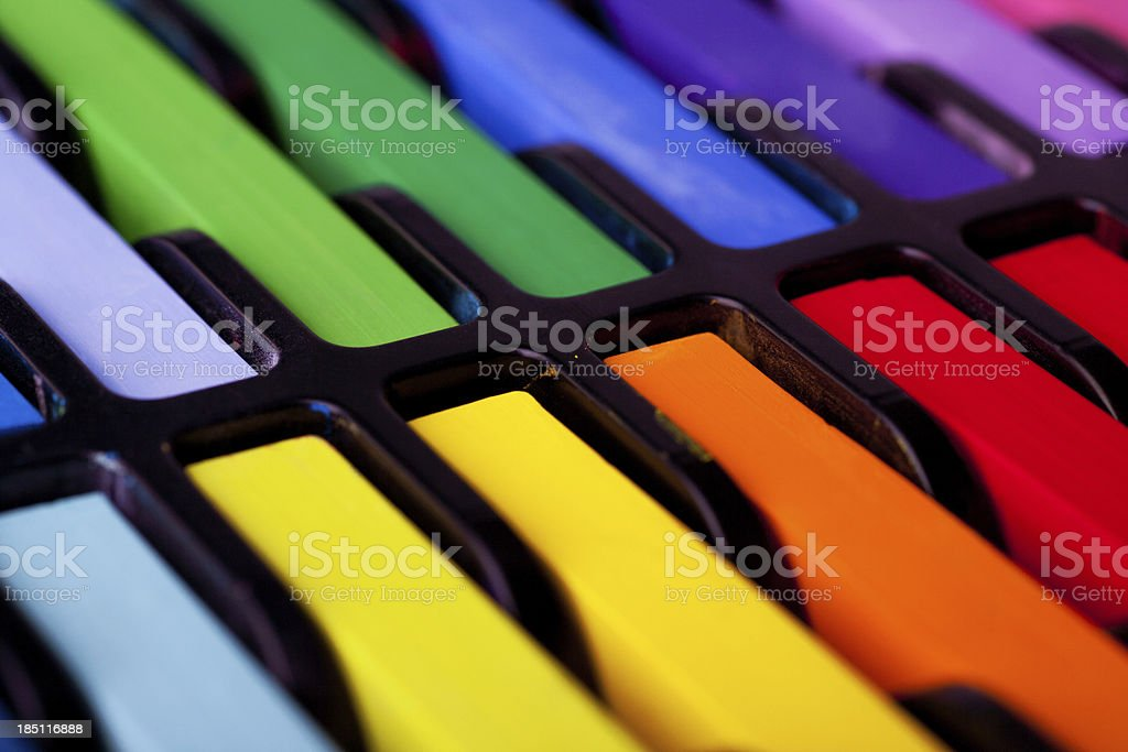 Multicolored pastel chalks royalty-free stock photo