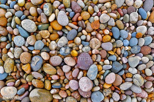 Stone composition on the beach.