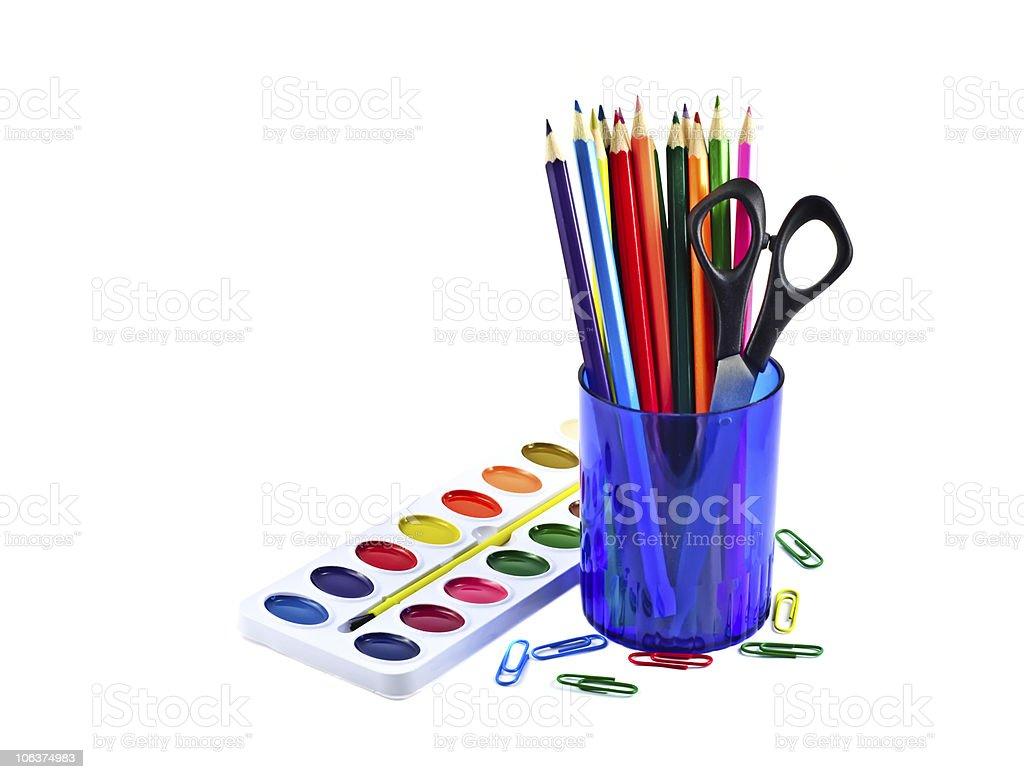 Multicolored pencils royalty-free stock photo