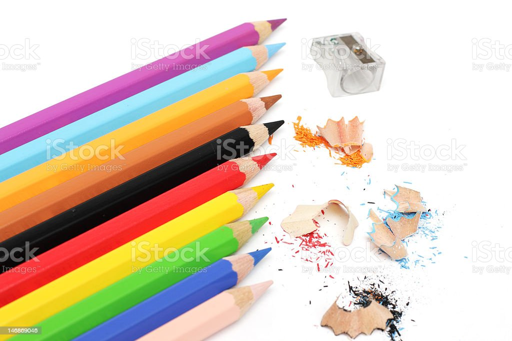 Multicolored pencils royalty-free stock photo