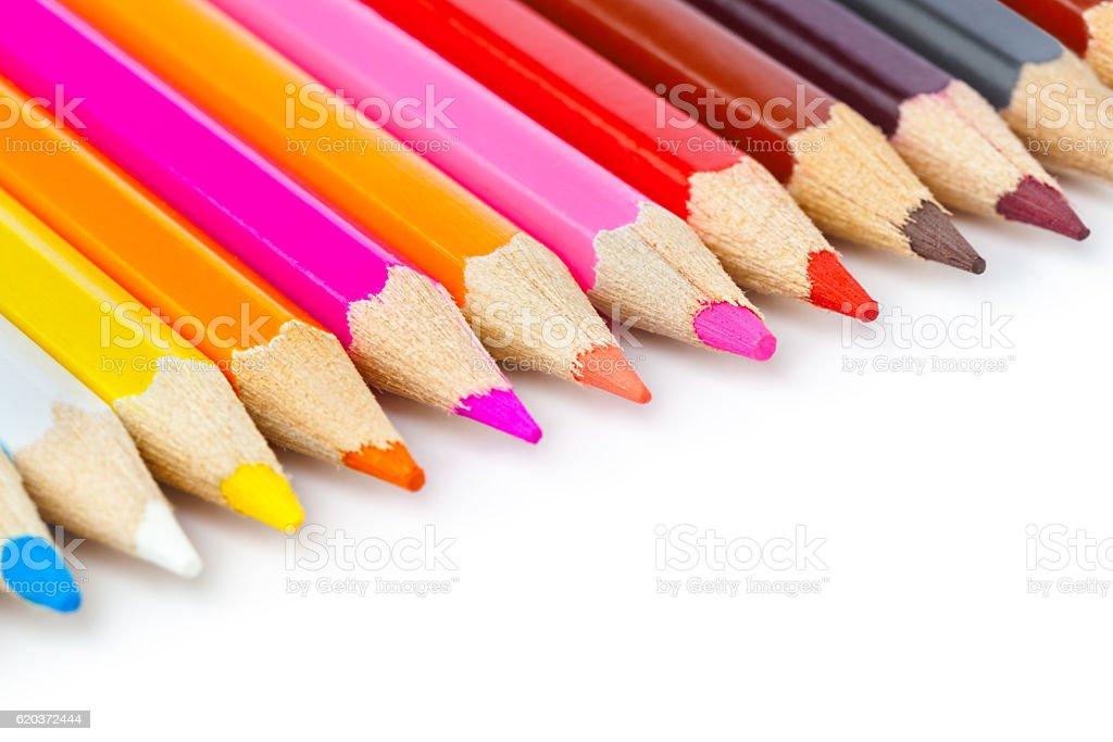 Multicolored Lápis foto de stock royalty-free
