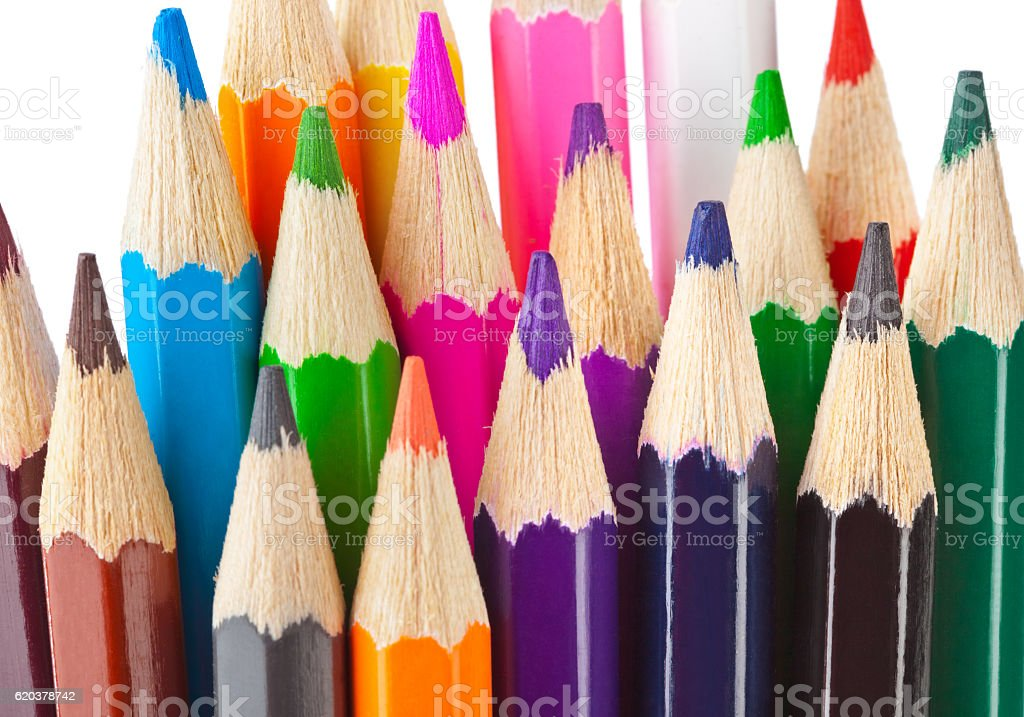 Multicolored ołówki zbiór zdjęć royalty-free