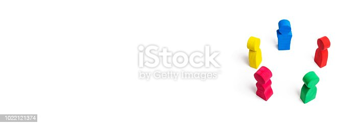 671270528istockphoto Multicolored people in a circle on a white background. concept of cooperation and teamwork. Difference and diversity of people. Work together, peace and prosperity. Multi-nationality. International 1022121374