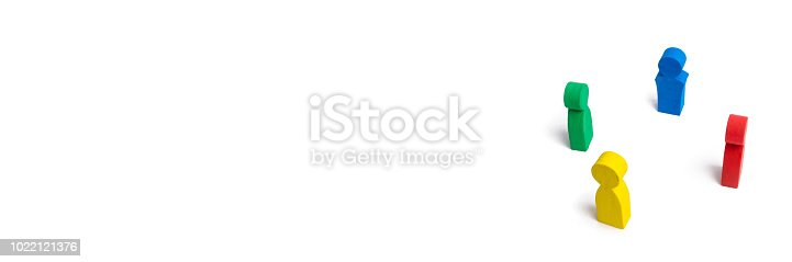 671270528istockphoto Multicolored people in a circle on a white background. concept of cooperation and teamwork. Difference and diversity of people. Work together, peace and prosperity. Multi-nationality. International 1022121376