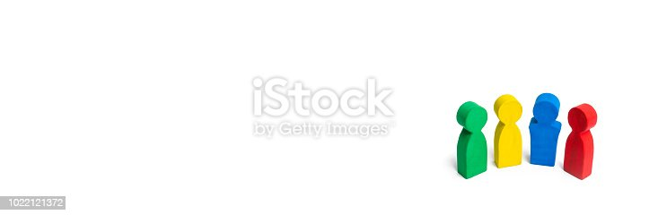 671270528istockphoto Multicolored people on a white background. The concept of cooperation and teamwork. Difference and diversity of people. Work together, peace and prosperity. Multi-nationality. International. 1022121372