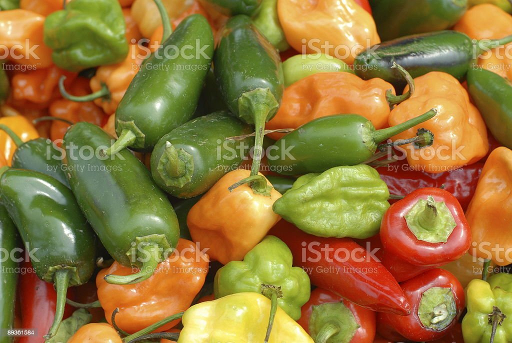 Multicolored Peppers at a Farmer's Market XII royalty free stockfoto