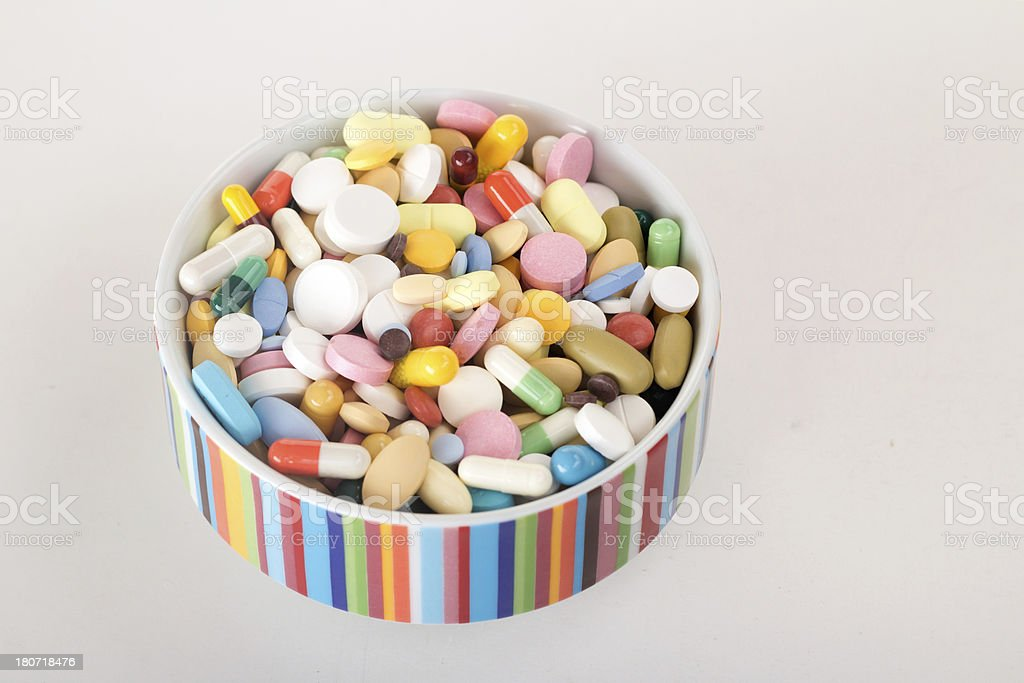 Multicolored Pills royalty-free stock photo