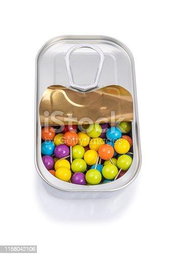 186827106istockphoto Multicolored pins 1158042106