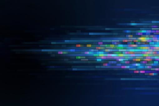 Moving Pixels BAckground Concept