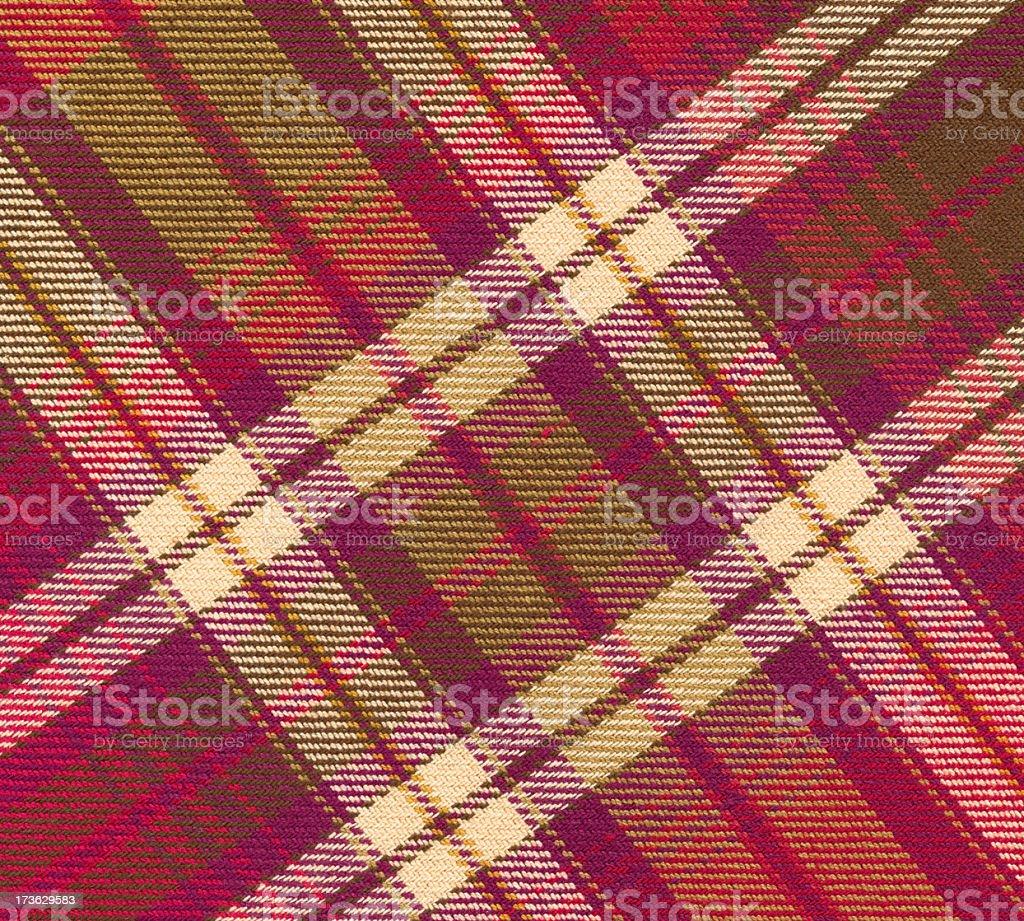 multi-colored plaid fabric stock photo