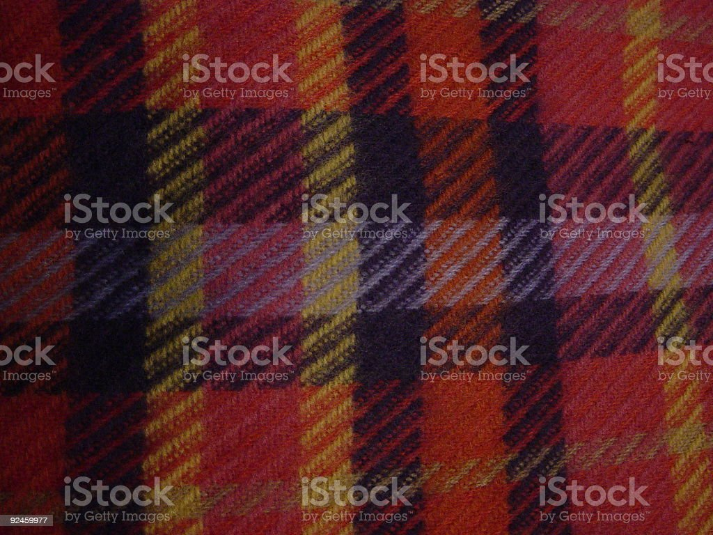 Multicolored Plaid Scarf royalty-free stock photo