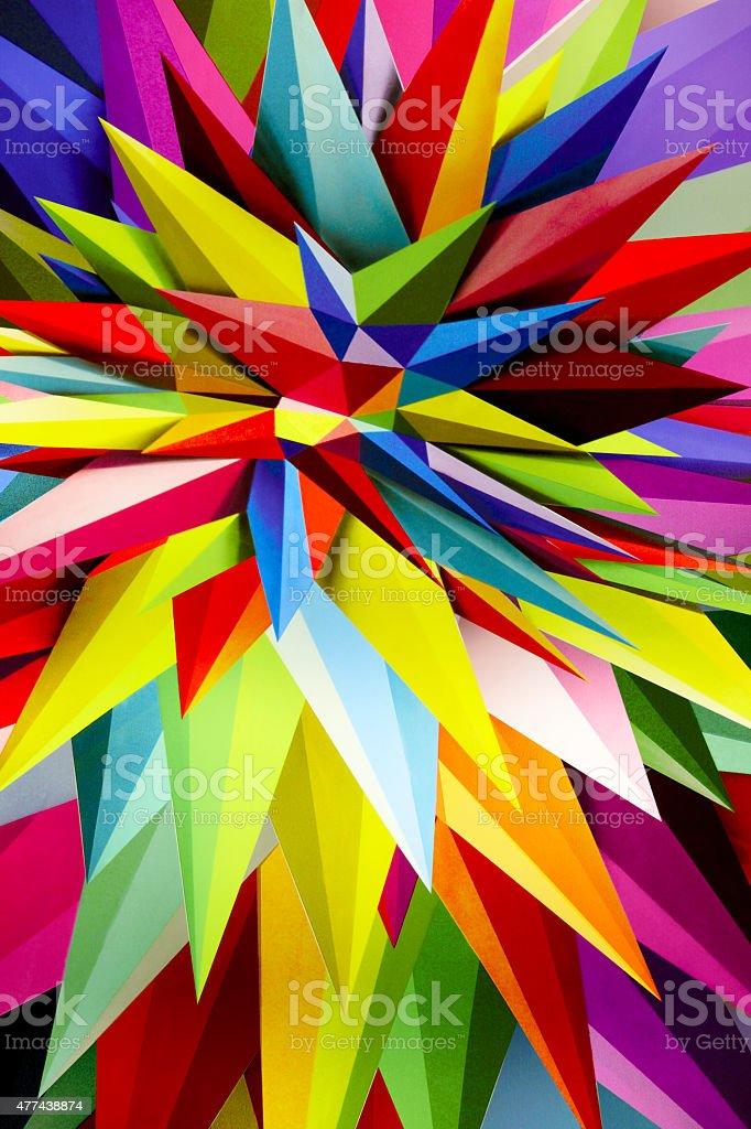 Multicolored plastic background with geometric lines retro illum stock photo
