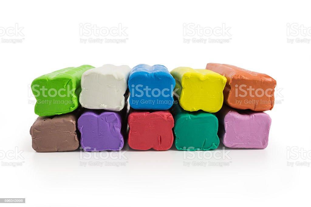 multicolored plasticine Lizenzfreies stock-foto