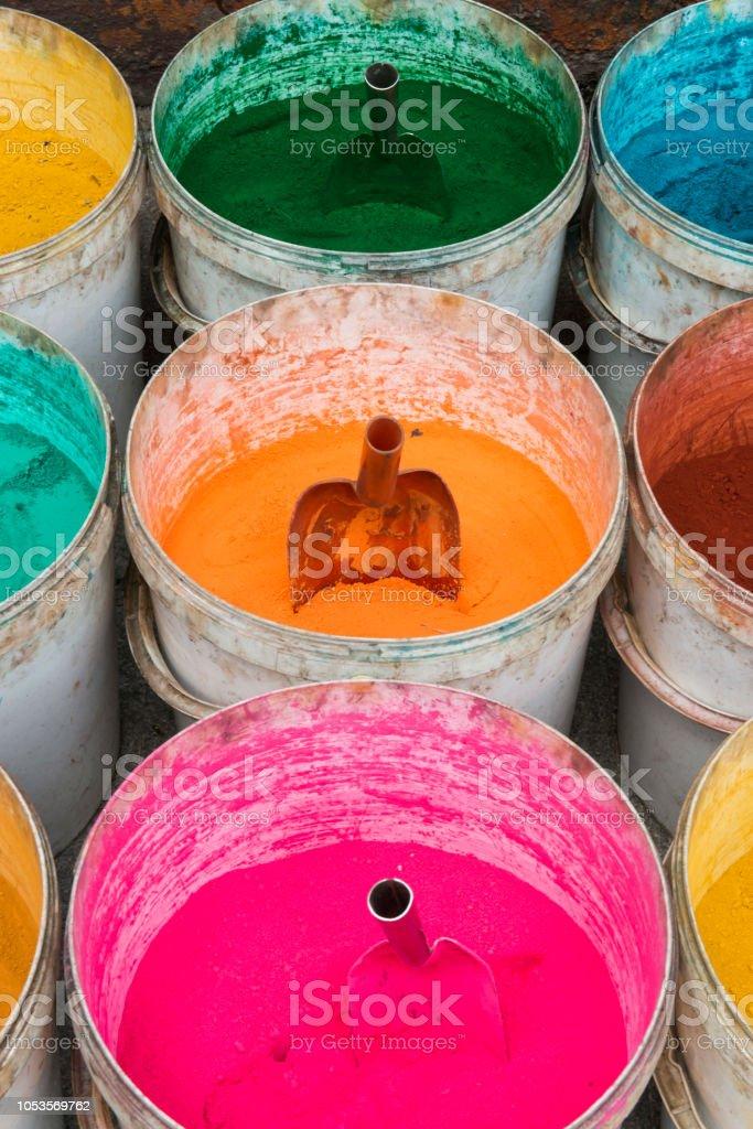Indian holi colors