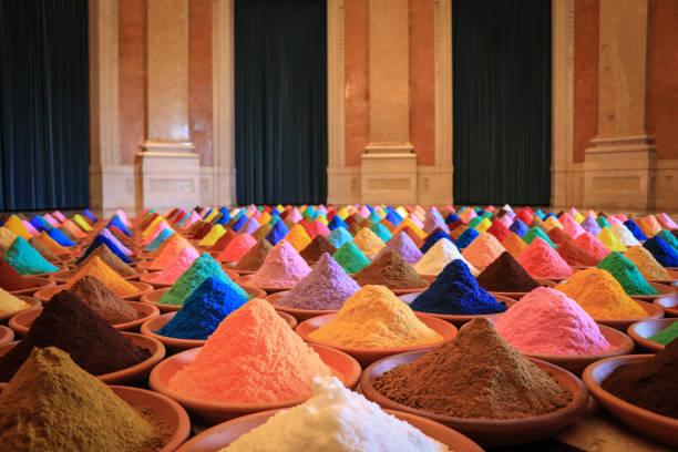 colorants poudre multicolore - Photo