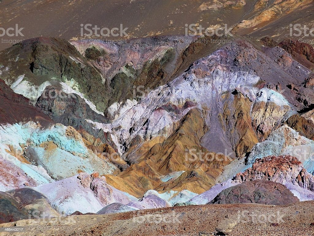 Multicolored Rock Formation stock photo