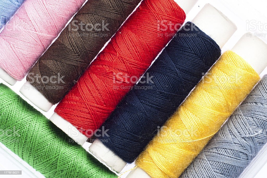Multicolored Sewing Threads royalty-free stock photo