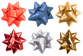 istock Multicolored shiny paper bow christmas decoration 174979651