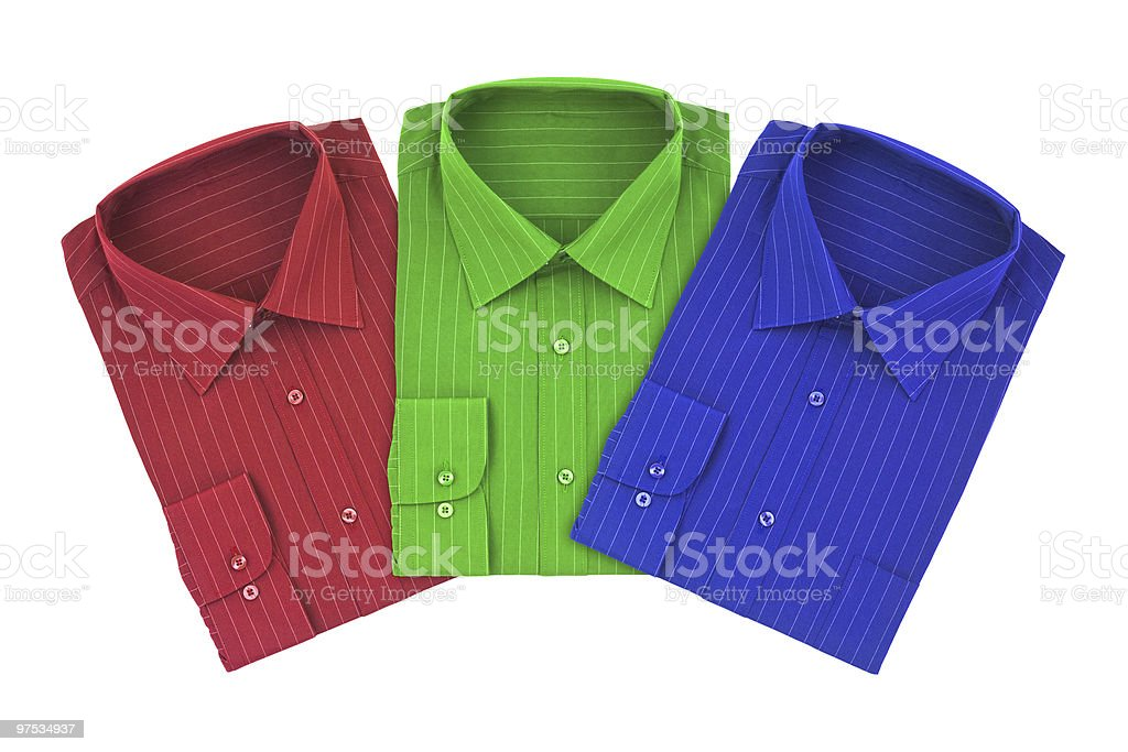Multicolored shirts royalty-free stock photo
