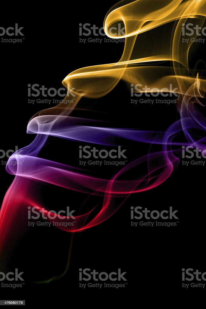 Multicolored smoke royalty-free stock photo